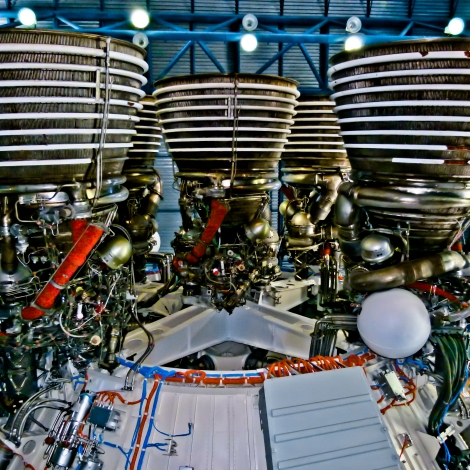 Saturn V Second Stage Engine Cluster
